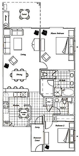 Floor Plan for Fairway Villas C32